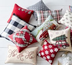 PILLOW - The budget way to decorate for any holiday. Christmas Holiday Decorations | Pottery Barn #ad