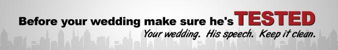 Grade my wedding speech