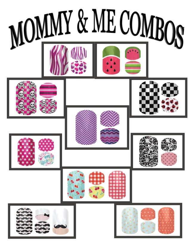 Jamberry Nails: Mommy & Me Combos  Find these designs and many others at: http://kkeune.jamberrynails.net