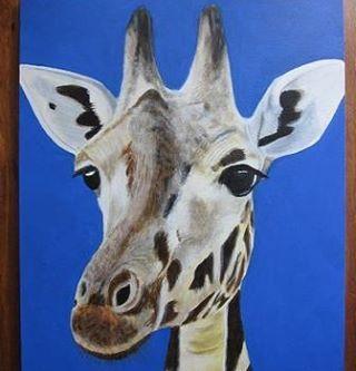 schilderij giraf #schilderij #pittura #painting #giraf #giraffe #langnek #girafe #giraffa #jirafa #african #animal #africananimals #animalpainting #long #instaanimal #instaart #insta #