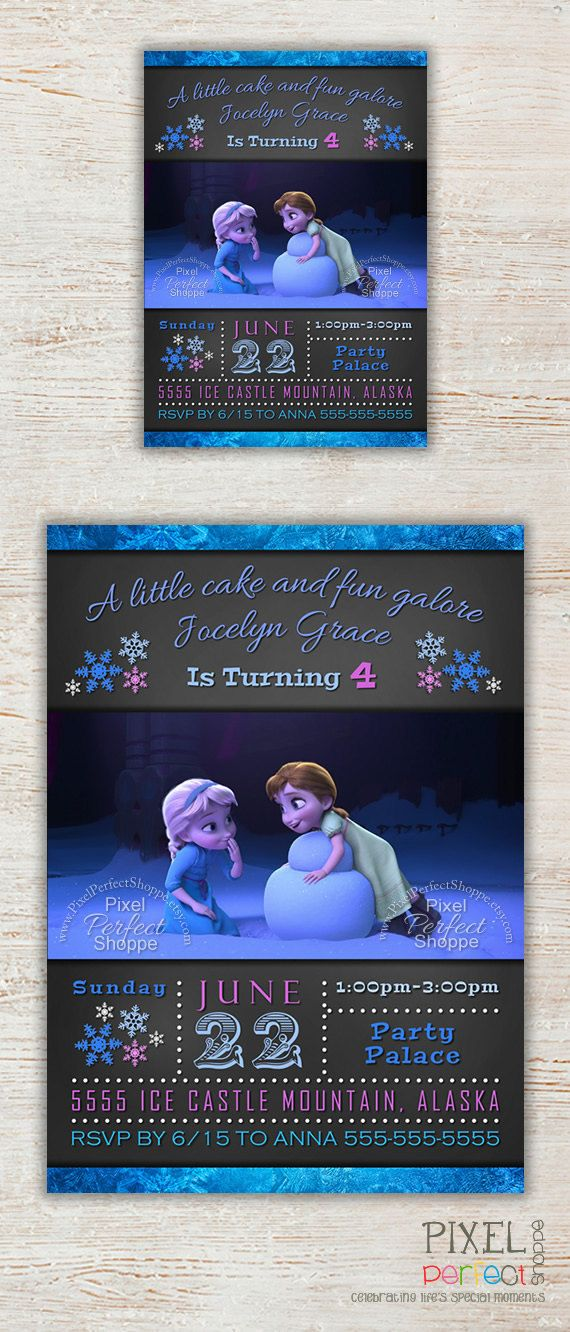 Hey, I found this really awesome Etsy listing at https://www.etsy.com/listing/194075282/frozen-birthday-invitation-frozen
