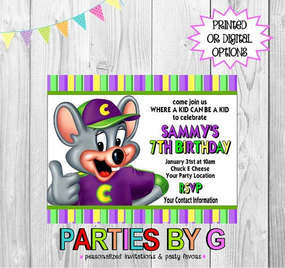 11 best Chuck E Cheese Birthday Party images on Pinterest