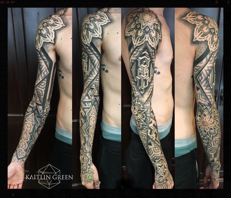 Done by kaitlin green geometric tattoo artist at landmark