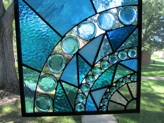 Stained Glass Panel Etsy Stained Glass Glass Stained Glass Projects