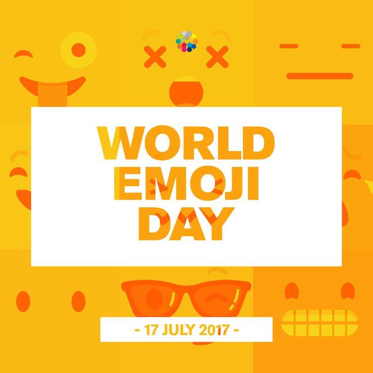 We use emojis every day, so why not celebrate them? Welcome to World Emoji Day . #WorldEmojiDay 17-07-2017-World-Emoji-Day