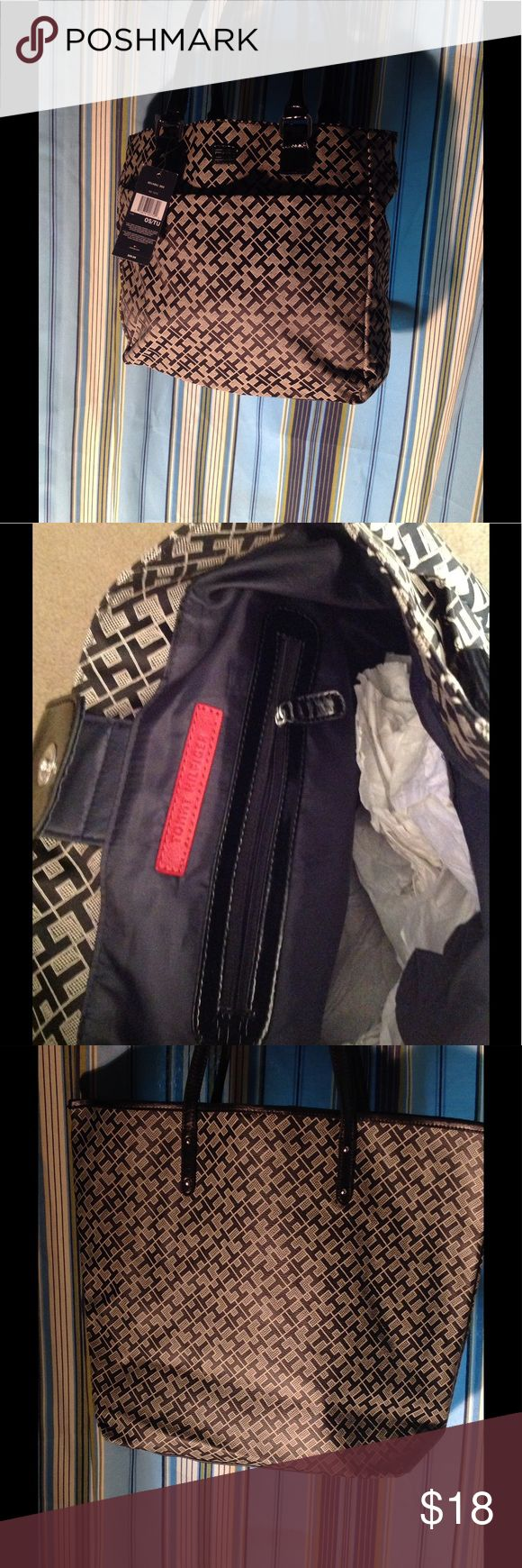 Tommy Hilfiger totes bag Tommy Hilfiger black and cream totes bags brand new tag still on Tommy Hilfiger Bags Totes
