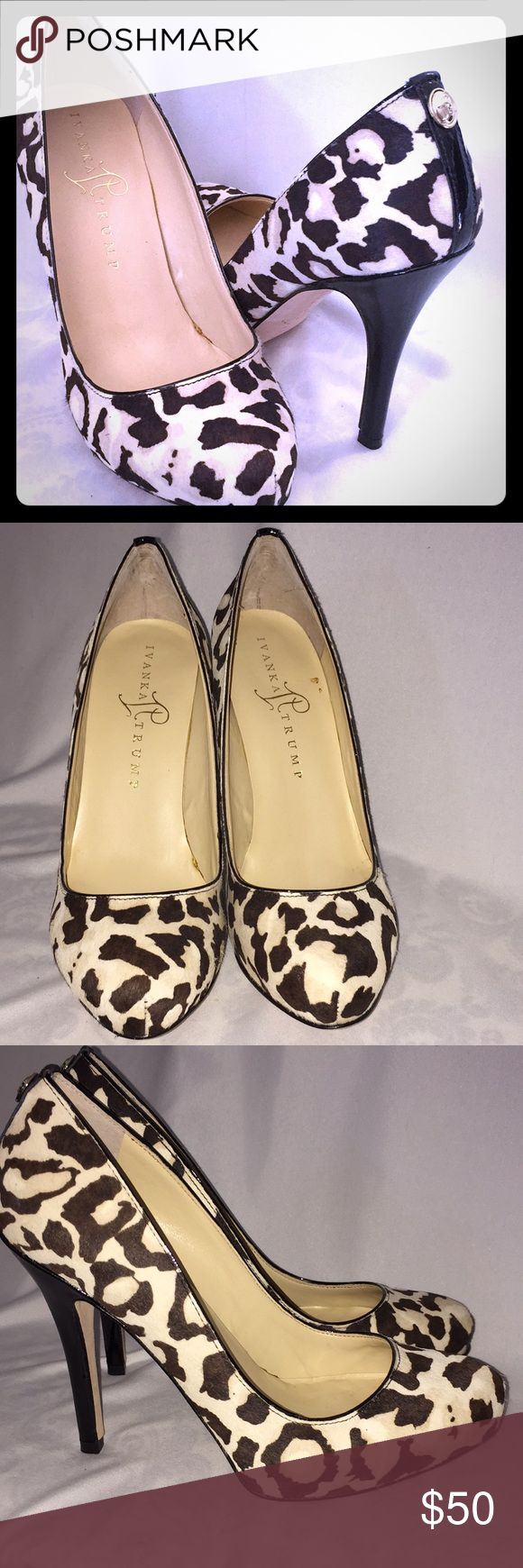 Ivanka Trump animal print high heels 5.5 Brand new heels excellent condition women size 5.5 Ivanka Trump Shoes Heels