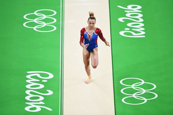 Aliya Mustafina of Russia competes on the vault during the Women's Individual All Around Final on Day 6 of the 2016 Rio Olympics at Rio Olympic Arena on August 11, 2016 in Rio de Janeiro, Brazil. - Gymnastics - Artistic