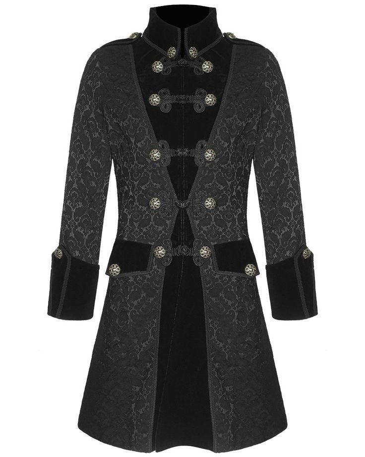 Pentagramme Mens Brocade Jacket Frock Coat Black Gothic ...   736 x 920 jpeg 71kB
