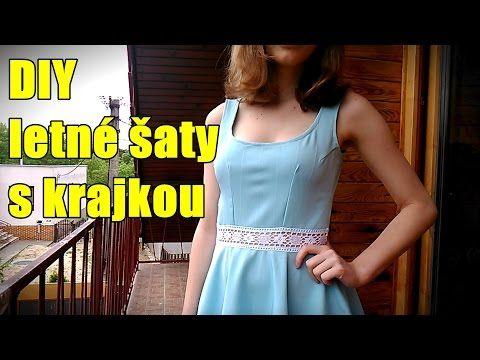 DIY letné šaty s krajkou - YouTube