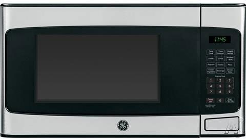 GE JES1145SHSS 1.1 cu. ft. Countertop Microwave Oven with 950 Watts, Auto and Time Defrost, Glass Turntables, Kitchen Timer, Convenience Cooking Controls and Stainless Steel Finish