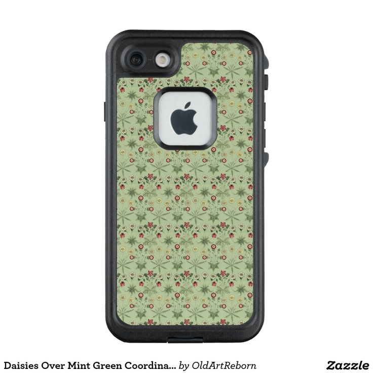 Daisies Over Mint Green Coordinates LifeProof® FRĒ® iPhone 7 Case