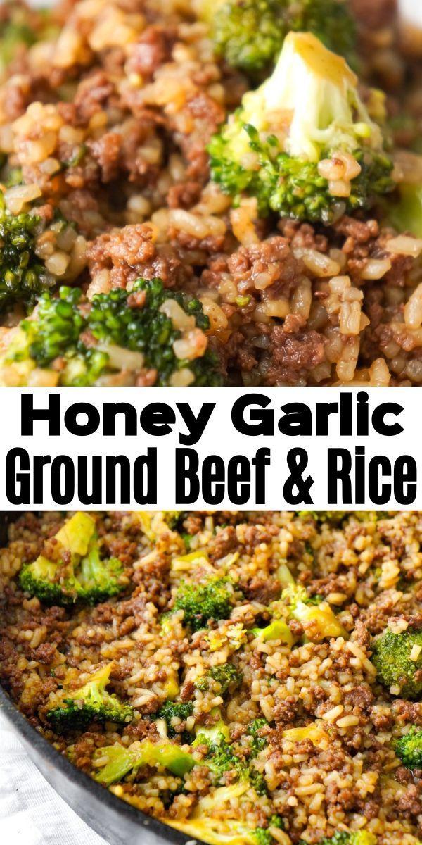 Honey Garlic Ground Beef And Rice Paulina Beefrec In 2020 Dinner With Ground Beef Beef Dinner Beef And Rice