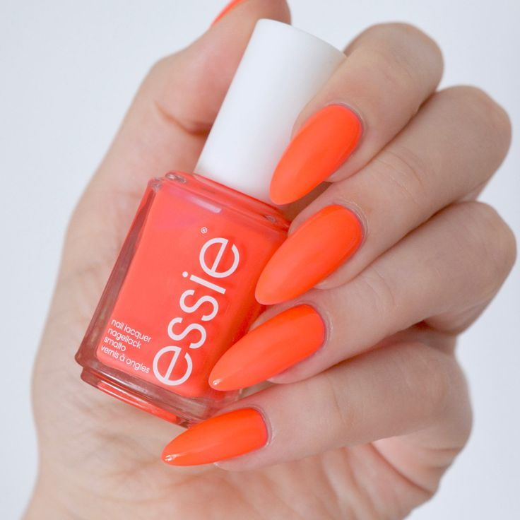 Essie Neon 2017 Review With Swatches With Images Coral Pink
