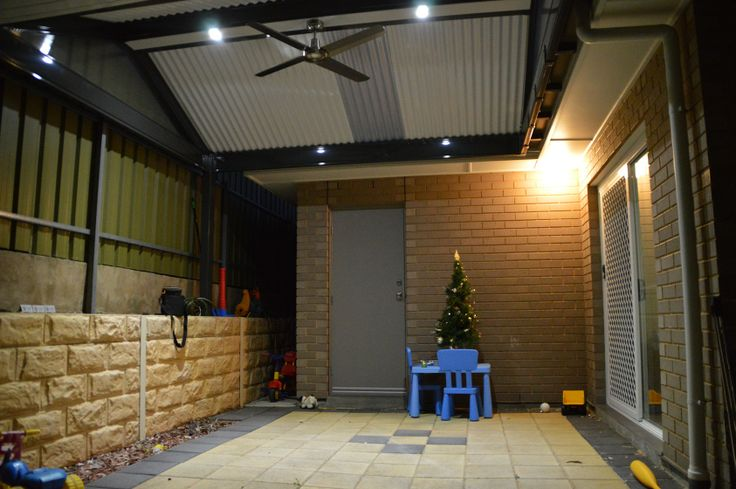 patio LED Lights and remote controlled fan