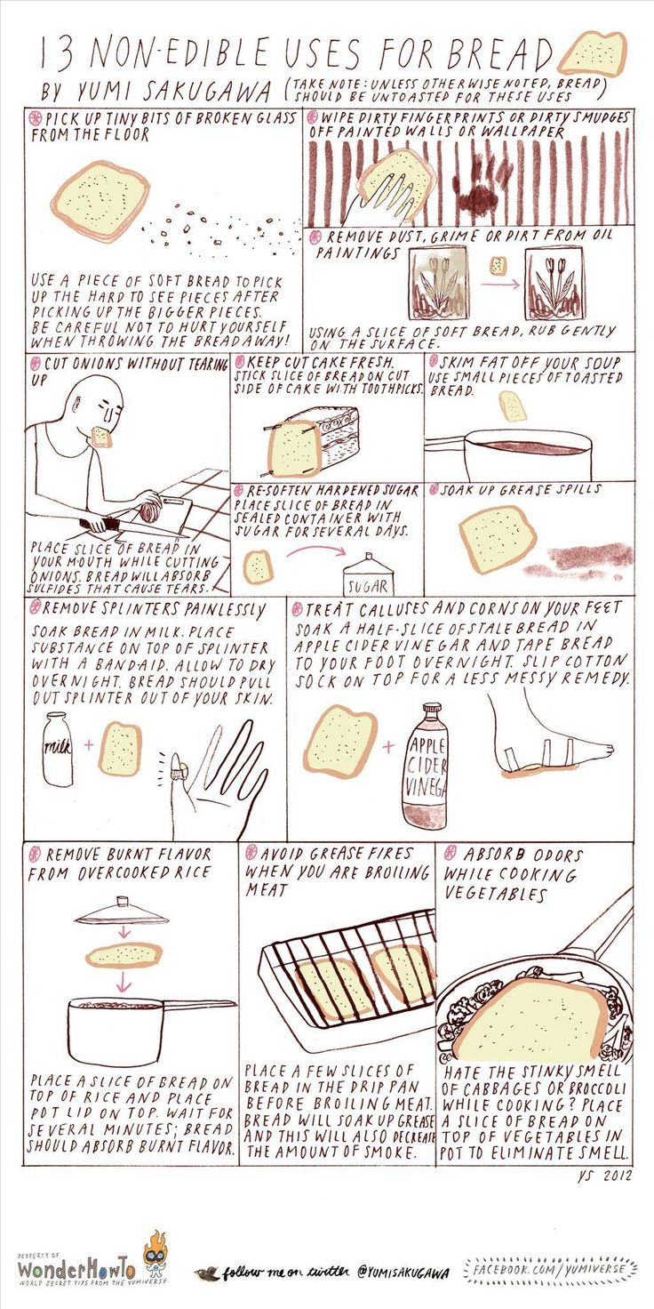 13 Non-Edible uses for bread13 Non Ed, Crafts Ideas, Cleaning, Breads Zeppelin, Secret Yumivers, House, Life Hacks, Diy, Crafty Ideas