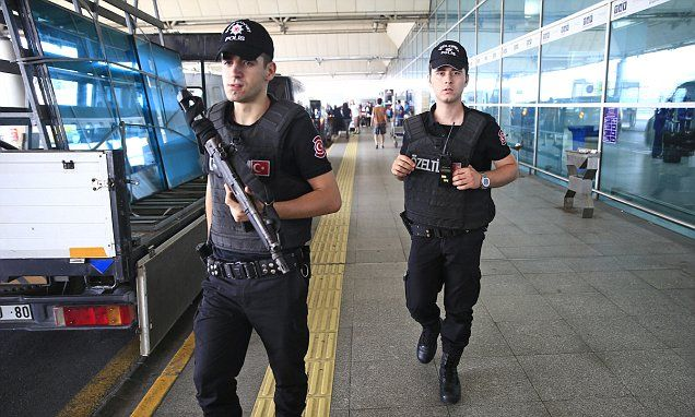 {    TURKISH POLICE SMASH 'ISIS CELLS': MORE THAN 20 ARRESTED IN TERROR RAIDS AS IT IS REVEALED INTELLIGENCE SERVICES WARNED OF ATTACK ON ISTANBUL AIRPORT JUST WEEKS AGO    } #DailyMailUK ...... http://www.dailymail.co.uk/news/article-3667540/Turkish-police-raid-ISIS-cells-Nine-arrested-terror-swoops-revealed-intelligence-services-warned-attack-Istanbul-airport-just-weeks-ago.html#ixzz4D6tIgNg2