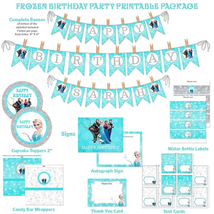 Frozen Birthday Banner Printable Frozen Banner Party By: 62 Best Birthday Printable Party Packages, DIY Images On