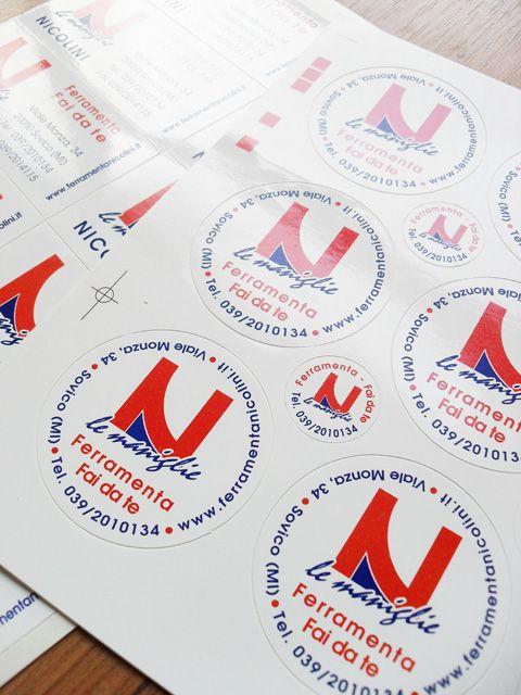 Adesivi etichette stickers personalizzati anche piccole quantità Scopri di più su www.guidoborgonovo.it