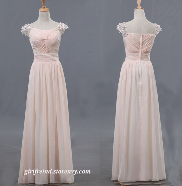 Elegant chiffon floor-length prom dress
