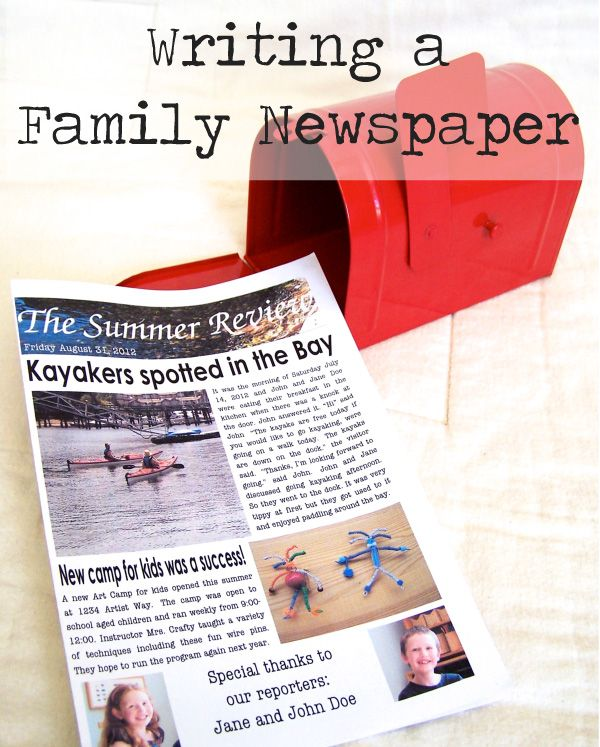 Tips and resources for creating a family newspaper with the budding journalists in your life...