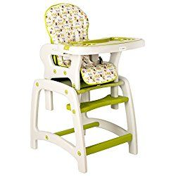Dearbebe Infant Healthy Care Comfort Booster Seat Baby Toddler Highchair for Eating,Green/Blue