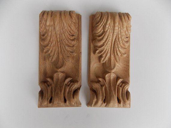Pc cm wood carved corner onlay applique door cabinet