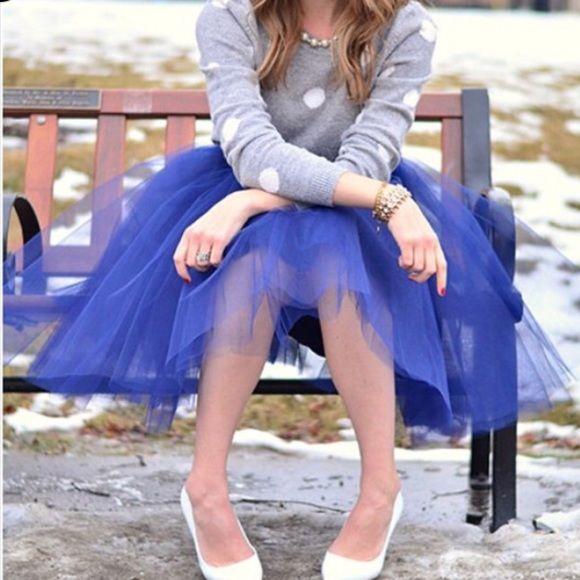 "New Royal Blue Tulle Skirt❤️ New Royal Blue Tulle Skirt❤️small waist 24""-26"", Medium waist 27""-29"" Large 29.5""-31.5"". XL waist 32""-34"". Skirts"