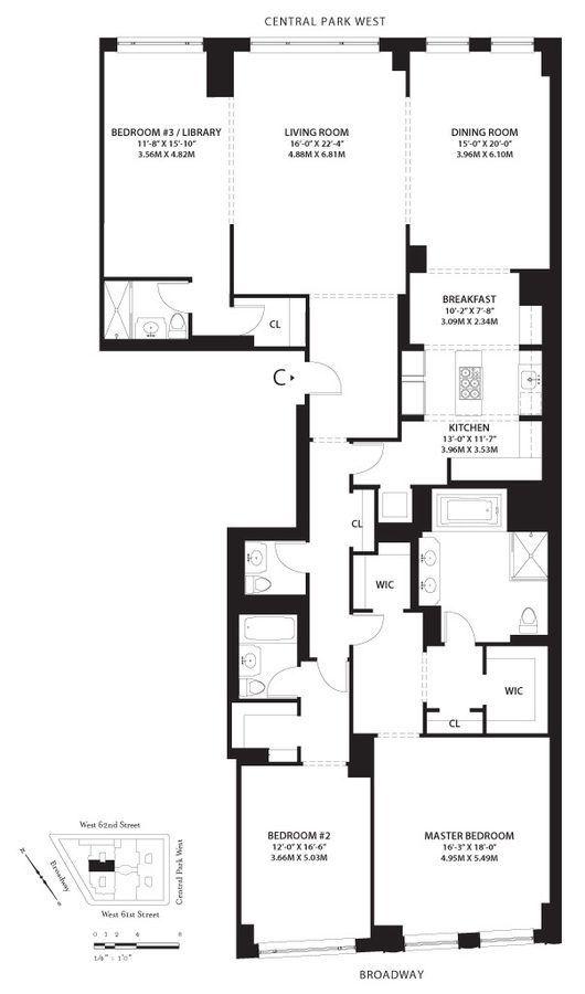 246 best Apartment Plans images on Pinterest Floor plans - plan 3 k che