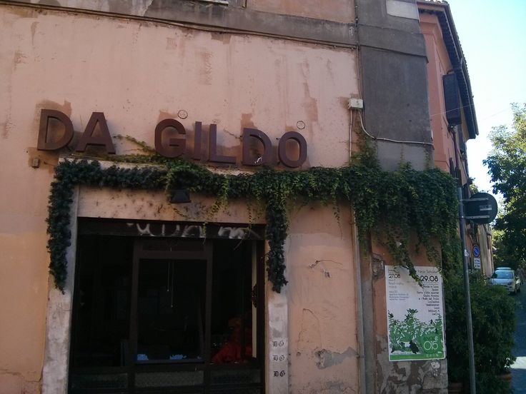 Restaurante Da Gildo. Trastevere, roma.