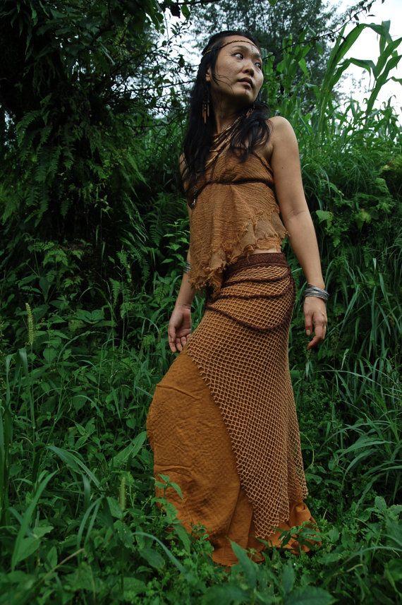 Terracota Brown pure Cotton Earthy Long Skirt