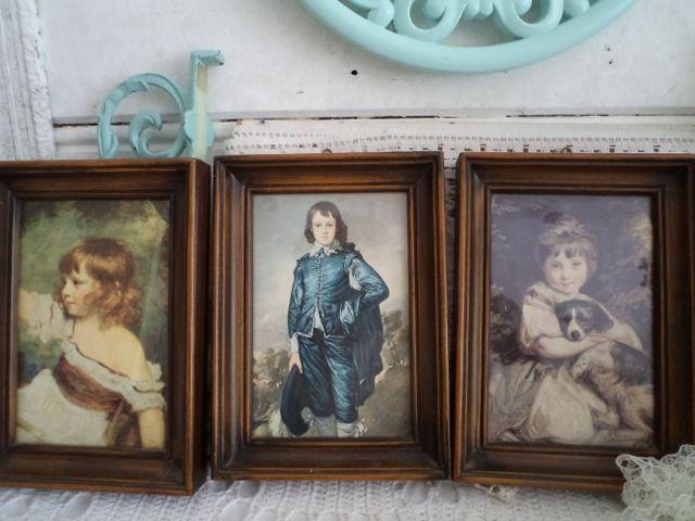 3 italiaanse lijstjes met nostalgische prentjes achter glas van deblauweblaker.nl