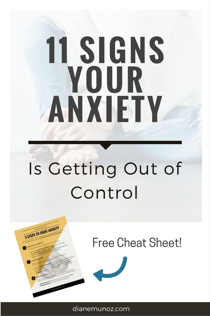 Symptoms of anxiety - Signs Of Anxiety Disorders Signs Of Anxiety In Teens Anxiety Out Of Control