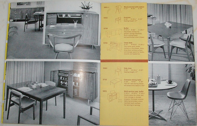 Vintage herman miller brochure 240 herman miller for P s furniture flyer