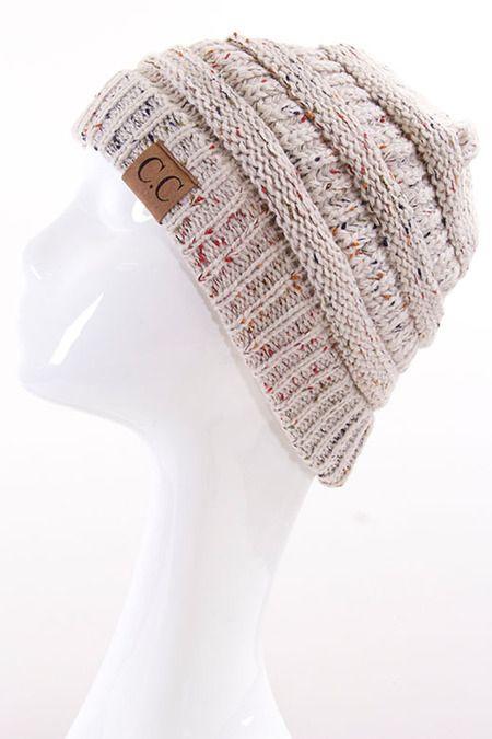 CC cable knit confetti beanie *** wholesale