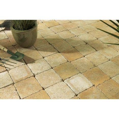 Pav tarnis b ton jaune ton pierre 15x15cm terrasse jardin pinterest ps - Prix du metre cube de beton ...