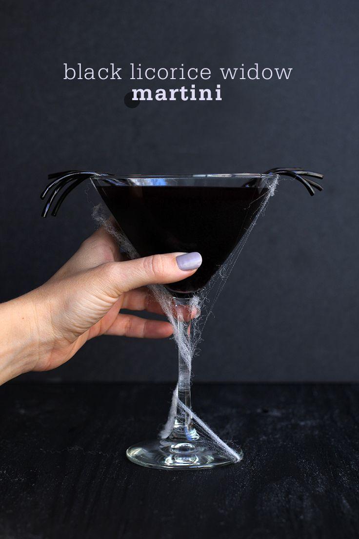 Halloween is coming! Black Licorice Widow Martini @freutcake