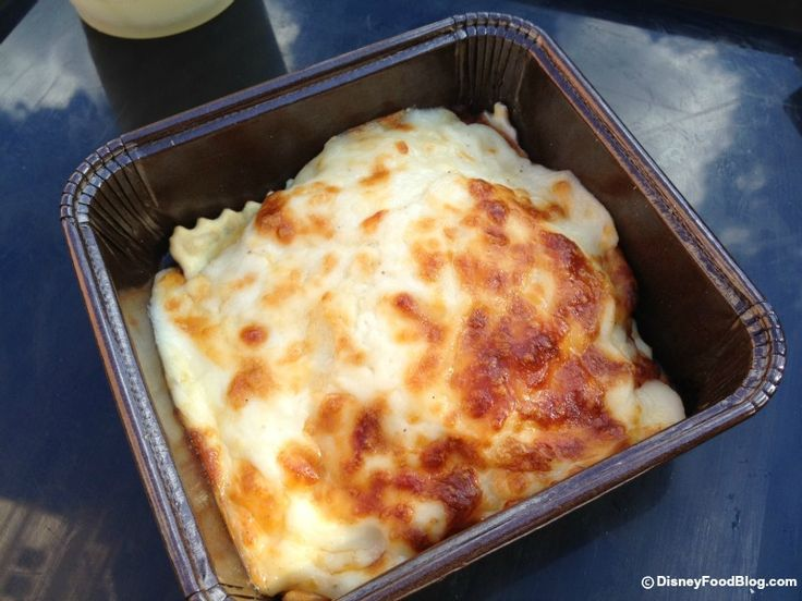 Ravioli Di Formaggio All'Emiliana at Epcot Food and Wine Festival Italy Pavilion! (Baked Cheese Ravioli with Creamy Beef Bolognese Sauce, Parmesan Cheese, Melted Mozzarella)
