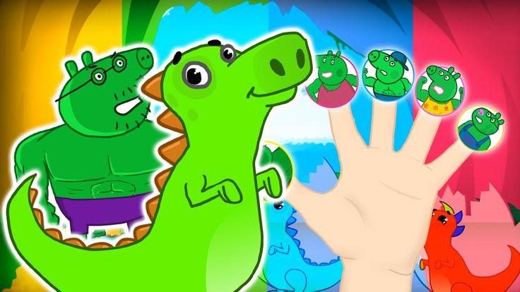#Peppa Pig Dinosaur #Finger Family \ Nursery Rhymes Lyrics and More https://www.youtube.com/watch?v=qnFerm6kqn4 #PeppaPig #Dino #NurseryRhymes