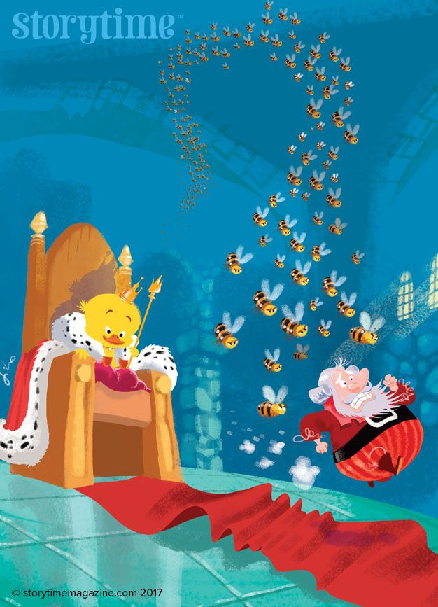A clever duck becomes king in Storytime Issue 29's folk tale - very funny too! Art by Timohir Celanovic (http://tihomir-celanovic.com). ~ STORYTIMEMAGAZINE.COM