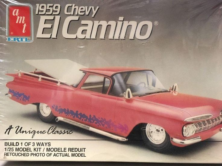 Vintage AMT 1959 Chevy Chevrolet El Camino 1/25 Model Kit Sealed Box