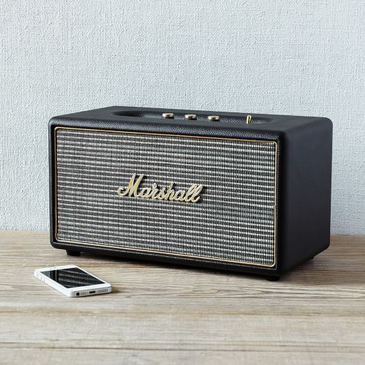 Marshall Stanmore Speaker | West Elm  This would fit in quite nicely on a shelf in the library!