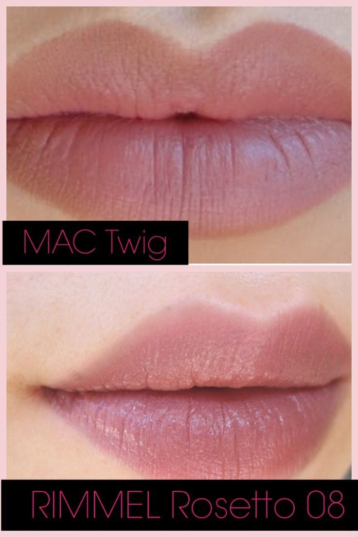 MAC Twig vs Rimmel Rosetto 08