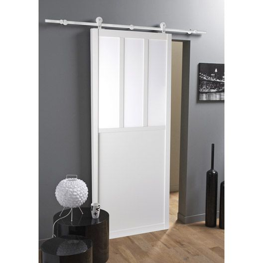 Ensemble porte coulissante atelier mdf rev tu rail bol ro for Decoration porte aluminium