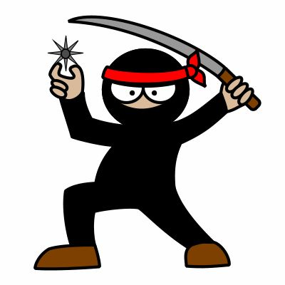Probably the only cartoon ninja I could survive to!
