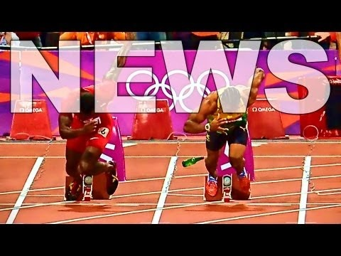 Footage of 34-year-old belligerent drunk, Ashley Gill-Webb, throwing a bottle at the starting field of the (London 2012 Summer Games) men's 100m Olympic final has appeared online.