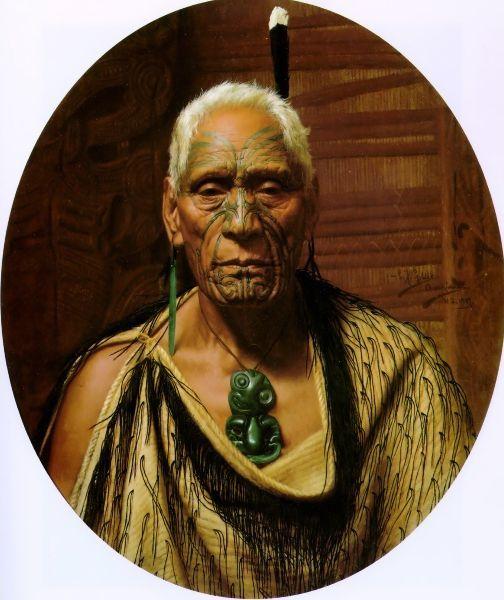 Te Hau-Takiri Wharepapa by Charles Goldie
