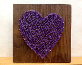 String Art Rhythm Heart Beat Sign Wall Art Decor от OneRoots