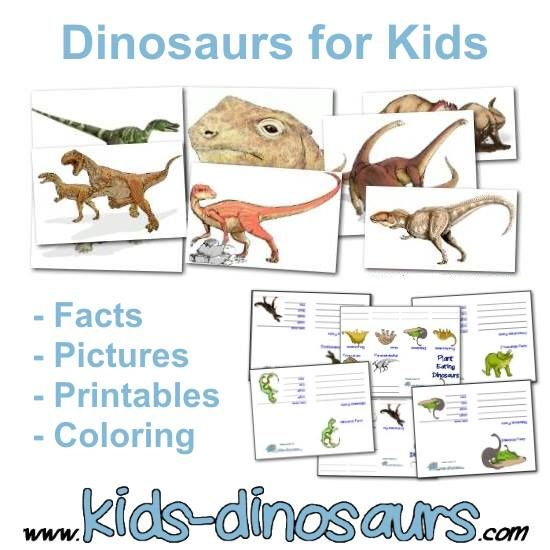 Dinosaurs for Kids - Everything for kids from neat dinosaur facts to coloring pages and pictures. Find some games, or try our printables.