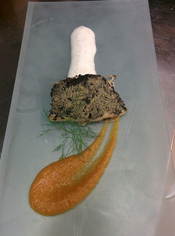 Filetto di ombrina in crosta di olive